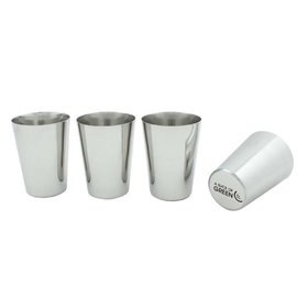 Stainless Steel Cups set van vier RVS drinkbekers A Slice of Green