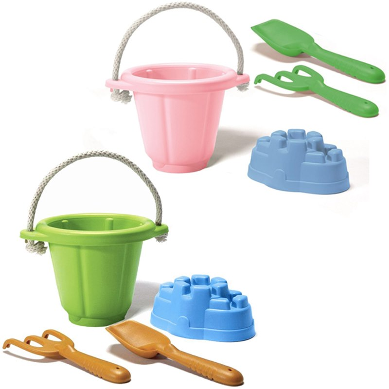 Zandbak speelgoed gerecycled Groen Green Toys Strandspeelgoed set