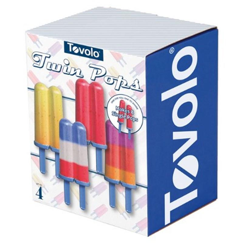 IJsvormpjes Twin pop Blauw Tovolo twee in één