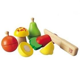 Houten groente en fruit set