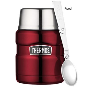 Lekdichte King thermos food jar 450 ml Rood Thermos