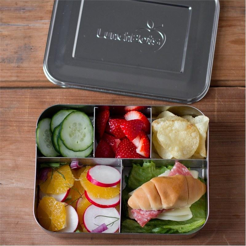 lunchbots bento lunchbox rvs broodtrommel 20x15x4 cinco. Black Bedroom Furniture Sets. Home Design Ideas