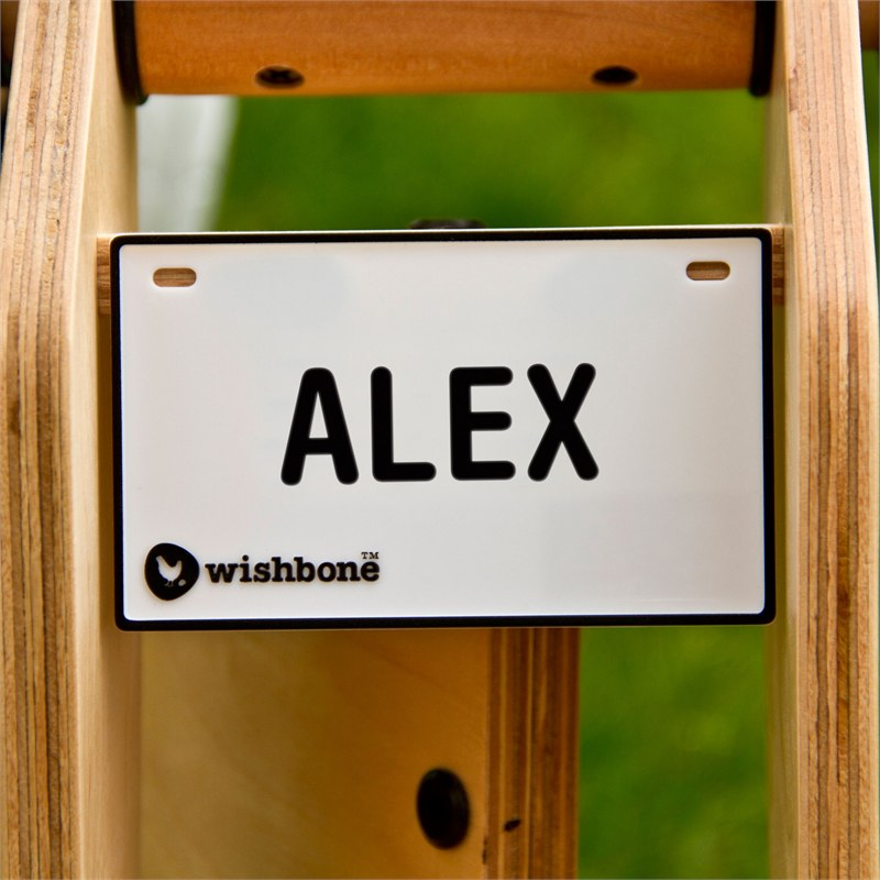 Wishbonebike naamplaatje Wishbonebike