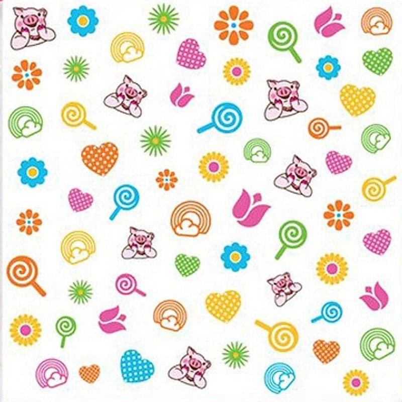 Nail Art Stickers 3-D Piggy Paint