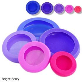 Food Huggers en deksels siliconen set van 5 Bright Berry Food Huggers