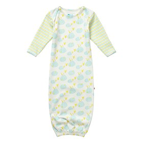 Baby bundler nightgown puddle duck print piccalilly