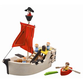 Houten piratenschip Plantoys