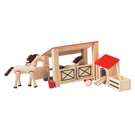 Paardenstal hout Plantoys