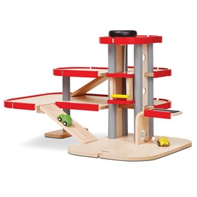 Speelgoedgarage hout Plantoys