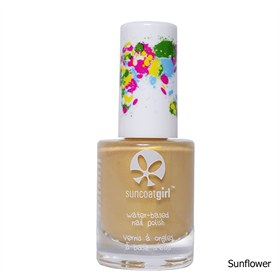 Veilige Eco kindernagellak Peel-Off Sunflower Suncoat Girl