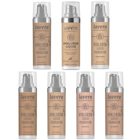 Natuurlijke liquid foundation hyaluron Lavera make up
